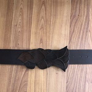 Anthropologie brown leaf belt (S)
